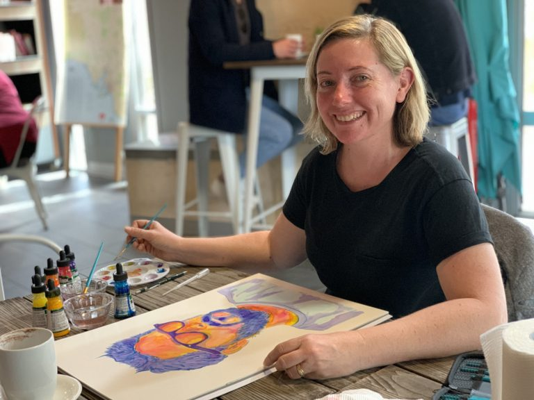 Meg Painting 768x576