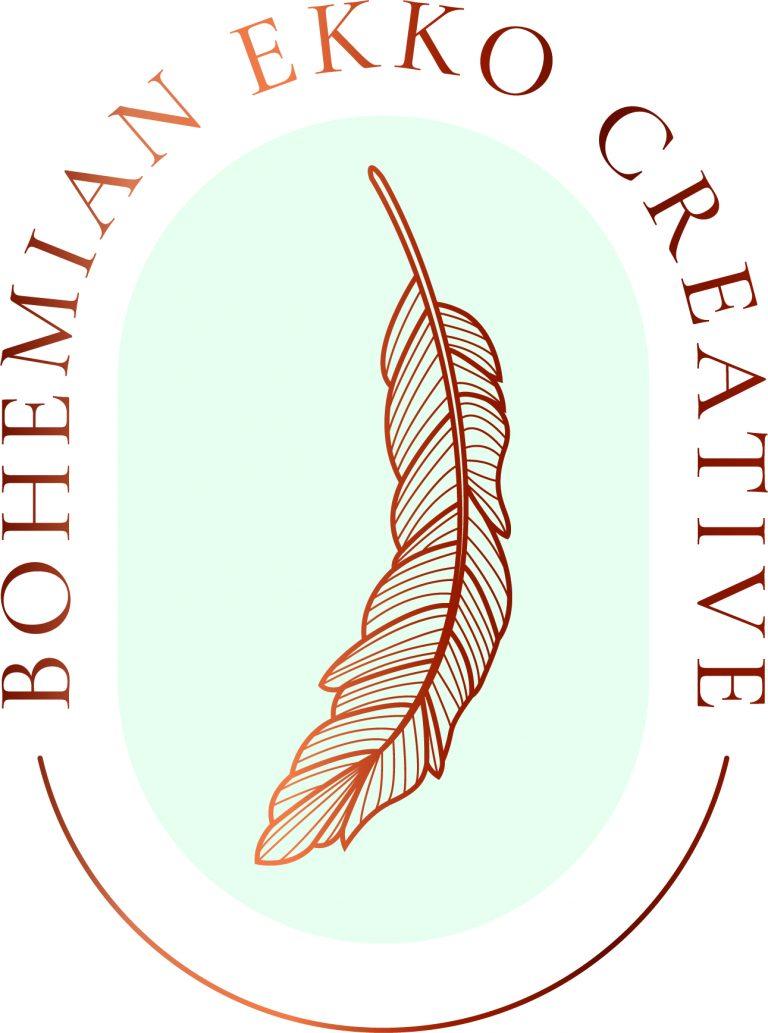 RP398 Bohemian Ekko Creative Logo CMYK Colour 768x1033